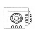 SVK1 - ъгъл с кръгла розетка
